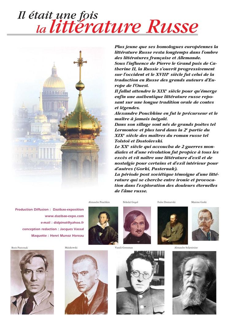 """Exposition """"Il était une fois la littérature Russe"""""""